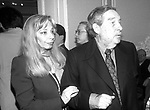 """Mexican writer, poet and essay writer and 1990 Nobel Laureate in Literature Octavio Paz arrives with his wife Mari Jose as he present his book """"Vislumbres de la India"""" in a Mexico City's cultural center. Photo by Heriberto Rodriguez"""