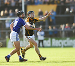 Liam Markham of Cratloe in action against Tony Kelly of  Ballyea during the county senior hurling final at Cusack Park. Photograph by John Kelly.