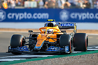 16th July 2021; Silverstone Circuit, Silverstone, Northamptonshire, England; Formula One British Grand Prix,  and Qualifying; McLaren F1 Team driver Lando Norris in his McLaren MCL35M Mercedes-AMG F1 M12