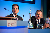 Ed Miliband and Brendan Barber. TUC Congress 2011 London.