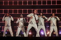 Backstreet Boy performs on the main stage of the Festival d'ete de Quebec (FEQ) in Quebec city Sunday July 9, 2017.
