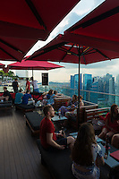 Ce La Vi Bar Lounge on 57 level Of Marina Bay Sands Hotel, Skypark, Singapore
