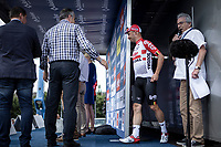 Stage winner Victor Campenaerts (BEL/Lotto Soudal) called on stage! <br /> <br /> Baloise Belgium Tour 2019<br /> Stage 4: Seraing – Seraing 151.1km<br /> ©kramon