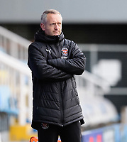 Blackpool manager Neil Critchley during the pre-match warm-up<br /> <br /> Photographer Chris Vaughan/CameraSport<br /> <br /> The EFL Sky Bet League One - Peterborough United v Blackpool - Saturday 21st November 2020 - London Road Stadium - Peterborough<br /> <br /> World Copyright © 2020 CameraSport. All rights reserved. 43 Linden Ave. Countesthorpe. Leicester. England. LE8 5PG - Tel: +44 (0) 116 277 4147 - admin@camerasport.com - www.camerasport.com