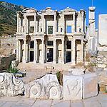 Turkey, Province Izmir, near Selcuk: ruins of Ephesus, Celsius Library | Tuerkei, Provinz Izmir, bei Selcuk: Ruinen von Ephesos, Celsus-Bibliothek