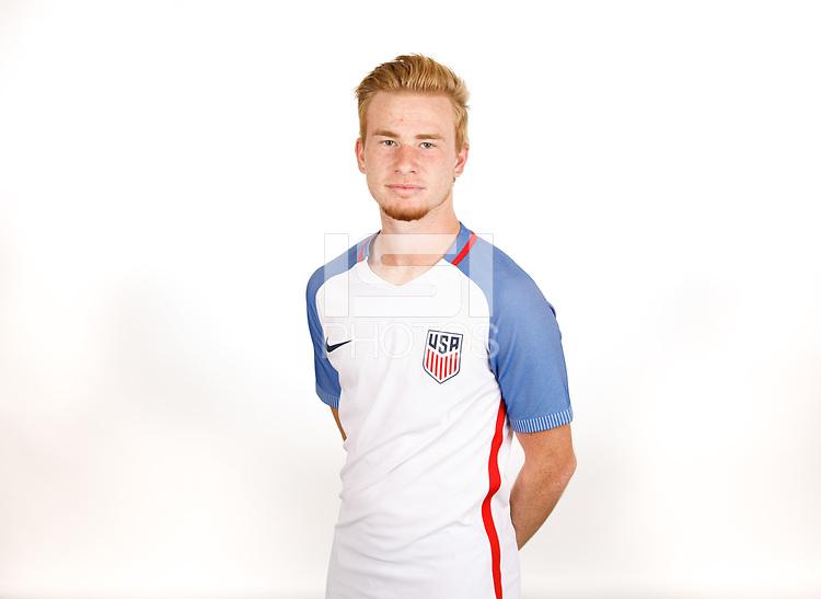 BRADENTON, FL - September 21, 2017: The U.S. Men's U-17 National team portraits at IMG Academy.
