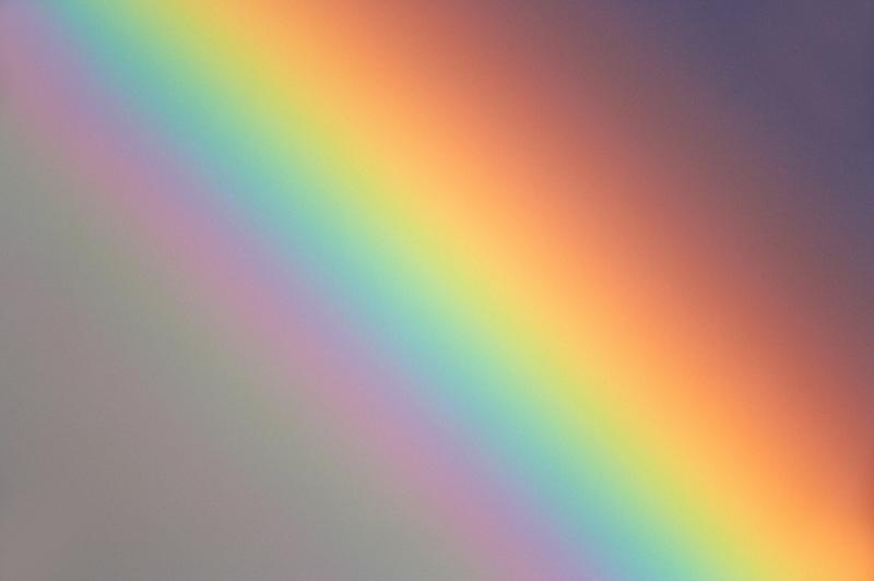 Close up of rainbow