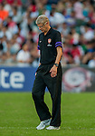 Arsenal FC manager Arsene Wenger looks on during the pre-season Asian Tour friendly match against Kitchee FC at the Hong Kong Stadium on July 29, 2012. Photo by Victor Fraile / The Power of Sport Images