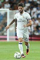 Real Madrid's Isco Alarcon during the XXXVII Bernabeu trophy between Real Madrid and Stade de Reims at the Santiago Bernabeu Stadium. August 15, 2016. (ALTERPHOTOS/Rodrigo Jimenez) /NORTEPHOTO