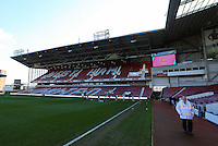 Pictured: Interior view of the Bobby Moore Stand of Boleyn Ground. 01 February 2014<br />
