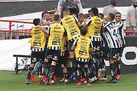 São Paulo (SP), 10/01/2021 - São Paulo-Santos - Jobson  comemora gol do Santos. Partida entre São Paulo e Santos válida pelo Campeonato Brasileiro neste domingo (10) no estádio do Morumbi em São Paulo.