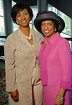 Dr. Mae Jemison and Sharon Owens at the Ivy Educational and Charitable Foundation fashion show luncheon at the Hilton Americas Sunday April 05,2009.(Dave Rossman/For the Chronicle)
