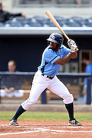 Charlotte Stone Crabs outfielder Andrew Toles (1) at bat during a game against the Fort Myers Miracle on April 16, 2014 at Charlotte Sports Park in Port Charlotte, Florida.  Fort Myers defeated Charlotte 6-5.  (Mike Janes/Four Seam Images)
