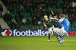 Hibs v St Johnstone.....11.02.13      SPL.Steven MacLean misses from the penalty spot.Picture by Graeme Hart..Copyright Perthshire Picture Agency.Tel: 01738 623350  Mobile: 07990 594431