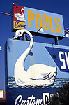 Swan Pools sign in the San Fernando Valley <br /> scanned on Epson Nov. 2017