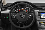 Car pictures of steering wheel view of a 2015 Volkswagen Passat Comfort 5 Door Wagon Steering Wheel