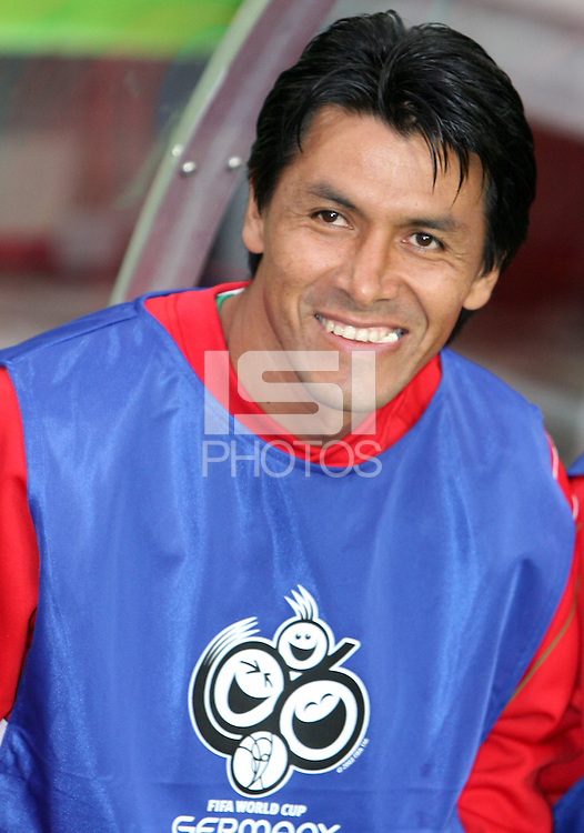 Claudio Suarez of Mexico before the start of the game. Mexico and Angola played to a 0-0 tie in their FIFA World Cup Group D match at FIFA World Cup Stadium, Hanover, Germany, June 16, 2006.