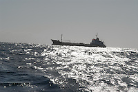 - merchant ship off Livorno harbor....- nave mercantile al largo di Livorno