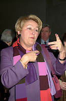 December 10, 2001, Montreal, Quebec, Canada<br /> Quebec Minister of Finances andVice-Premier ; Pauline Marois, talk with members of the attendance  at the launch of Hexagram,<br />  in Montreal, December 10th 2001.<br /> <br />  Marois finally became PQ leader in 2007. The upcoming Quebec provincial election will be held Dec 14, 2008.