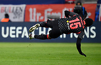 16th February 2021, Puskas Arena, Budapest, Hungary; Champions League football, FC Leipig versus Liverpool FC;   Alex Oxlade-Chamberlain of Liverpool goes down after a challenge