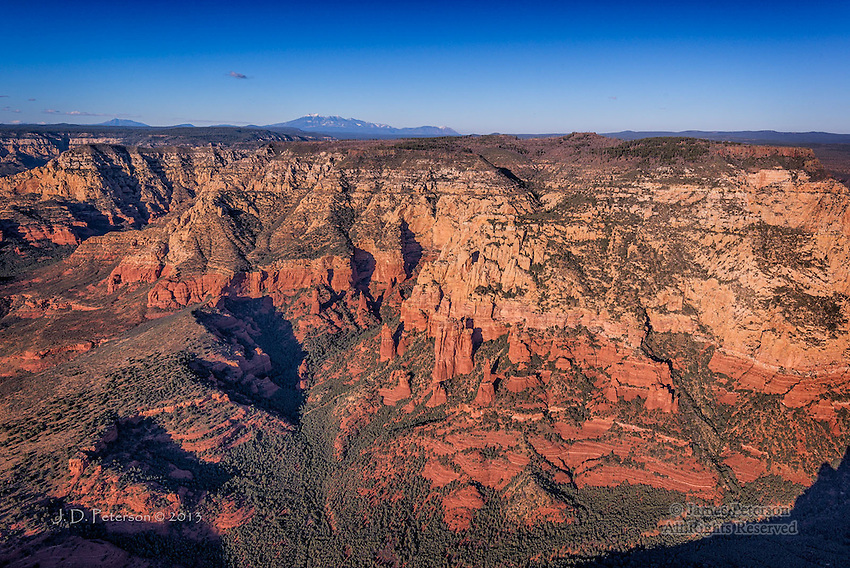 San Francisco Peaks above Red Rocks, Sedona, Arizona