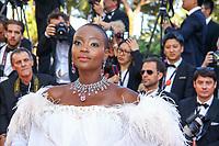 Miriam Odemba, sur le tapis rouge pour la projection du film D APRES UNE HISTOIRE VRAIE, hors competition lors du soixante-dixième (70ème) Festival du Film à Cannes, Palais des Festivals et des Congres, Cannes, Sud de la France, samedi 27 mai 2017.