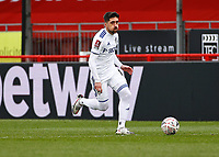10th January 2021; Broadfield Stadium, Crawley, Sussex, England; English FA Cup Football, Crawley Town versus Leeds United; Pablo Hernández of Leeds united taking the ball upfield in attack