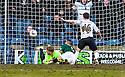 Raith Rovers' Lewis Vaughan(16) scores their second goal.