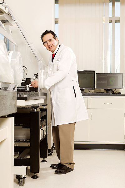 February 11, 2015. Winston Salem, North Carolina.<br />  Dr. Anthony Atala stands at one of the 3D printers used by the Wake Forest Institute for Regenerative Medicine to make body part scaffolds.<br />  Anthony Atala, M.D., is the Director of the Wake Forest Institute for Regenerative Medicine. Dr. Atala is a pioneer in the use of 3D printing in the area of regenerative medicine, focusing on growing new human cells, tissues and organs.