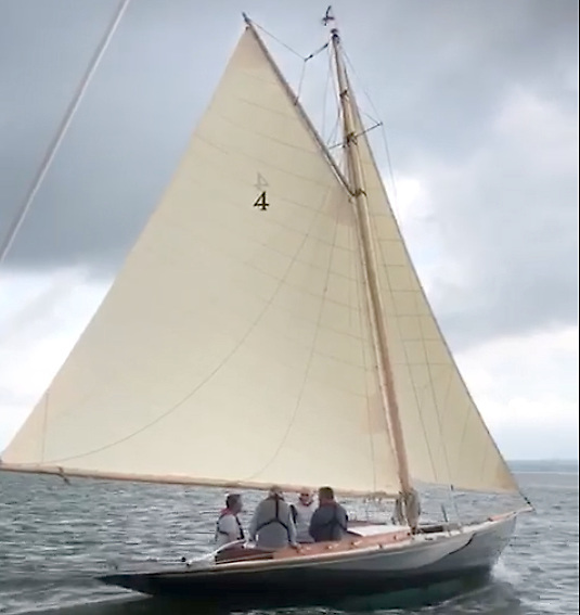 Secret sailing in the Shannon Estuary. The restored Dublin Bay 21 Garavogue (originally built Portrush 1903) on her 2021 maiden sail in the Shannon Estuary. All being well, she'll be sailing from the National Yacht Club in Dun Laoghaire for the first time in 35 years on Friday July 30th.