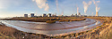 Saltend Chemical Plant, Kingston upon Hull, East Yorkshire, England, UK. Digitally stitched panorama.