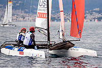Genoa, Italy is hosting sailors for the third regatta of the 2019 Hempel World Cup Series from 15-21 April 2019. More than 700 competitors from 60 nations are racing across eight Olympic Events. ©PEDRO MARTINEZ/SAILING ENERGY/WORLD SAILING<br /> 15 April, 2019.