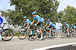 The peloton including Astana Pro Team during the 99th edition of Milan-Turin 2018, running 200km from Magenta Milan to Superga Basilica Turin, Italy. 10th October 2018.<br /> Picture: Eoin Clarke | Cyclefile<br /> <br /> <br /> All photos usage must carry mandatory copyright credit (© Cyclefile | Eoin Clarke)