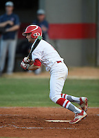 Lake Mary Rams Jared Batista (6) during a game against the Lake Brantley Patriots on April 2, 2015 at Allen Tuttle Field in Lake Mary, Florida.  Lake Brantley defeated Lake Mary 10-5.  (Mike Janes/Four Seam Images)