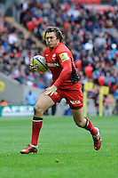 Alex Goode of Saracens in action during the Aviva Premiership match between Saracens and Harlequins at Wembley Stadium on Saturday 31st March 2012 (Photo by Rob Munro)