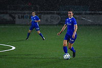 Sterre Gielen (14) of KRC Genk pictured during a female soccer game between  Racing Genk Ladies and Sporting du pays de Charleroi on the fourth matchday of the 2021-2022 season of the Belgian Scooore Womens Super League , friday 10 September 2021  in Genk , Belgium . PHOTO SPORTPIX | STIJN AUDOOREN