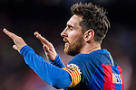 Lionel Andres Messi of FC Barcelona celebrates during their Copa del Rey 2016-17 Semi-final match between FC Barcelona and Atletico de Madrid at the Camp Nou on 07 February 2017 in Barcelona, Spain. Photo by Diego Gonzalez Souto / Power Sport Images