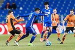 Brisbane Roar Forward Manuel Arana Rodriguez (L) fights for the ball with Ulsan Hyundai Midfielder Dimitrios Petratos (R) during the AFC Champions League 2017 Group E match between Ulsan Hyundai FC (KOR) vs Brisbane Roar (AUS) at the Ulsan Munsu Football Stadium on 28 February 2017 in Ulsan, South Korea. Photo by Victor Fraile / Power Sport Images