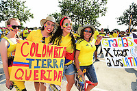 Action photo during the match Colombia vs Costa Rica at  NRG Stadium Copa America Centenario 2016. ---Foto  de accion durante el partido Colombia vs Costa Rica, En el Estadio NRG Partido Correspondiante al Grupo - A -  de la Copa America Centenario USA 2016, en la foto: fans<br /> <br /> --- 11/06/2016/MEXSPORT/Omar Martinez.
