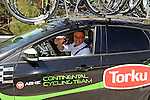 Torku Sekerspor team car during Stage 5 of the 2015 Presidential Tour of Turkey running 159.9km from Mugla to Pamukkale. 30th April 2015.<br /> Photo: Tour of Turkey/Mario Stiehl/www.newsfile.ie