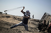 Middle East News -<br /> Gaza, Palestinian Territories Clashes between Palestinians and Israeli security forces <br /> PHOTO : Agence Quebec Presse - Youssef Massoud