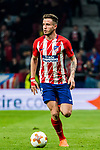 Saul Niguez Esclapez of Atletico de Madrid in action during the UEFA Europa League 2017-18 Round of 16 (1st leg) match between Atletico de Madrid and FC Lokomotiv Moscow at Wanda Metropolitano  on March 08 2018 in Madrid, Spain. Photo by Diego Souto / Power Sport Images