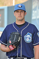 Craig Bennigson #27 of the Asheville Tourists poses during media day at McCormick Field on April 4, 2011 in Asheville, North Carolina.  Photo by Tony Farlow / Four Seam Images..