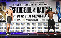 DALLAS, TX - DECEMBER 4: Sebastian Fundora and Habib Ahmed attend the weigh-in for the Errol Spence Jr. vs Danny Garcia December 5, 2020 Fox Sports PBC Pay-Per-View fight night at AT&T Stadium in Arlington, Texas. (Photo by Frank Micelotta/Fox Sports)