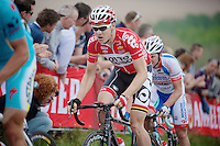Pim Ligthart (NLD/Lotto-Belisol) up the very steep Gulperberg (max 19%)<br /> <br /> Amstel Gold Race 2014
