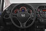 Car pictures of steering wheel view of a 2014 Honda Jazz s 5 Door Hatchback 2WD Steering Wheel