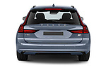 Straight rear view of 2021 Volvo V90-Recharge R-Design 5 Door Wagon Rear View  stock images