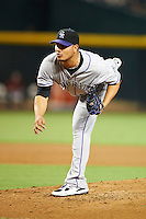 Colorado Rockies pitcher Jhoulys Chacin #45 during a National League regular season game against the Arizona Diamondbacks at Chase Field on October 2, 2012 in Phoenix, Arizona. Arizona defeated Colorado 5-3. (Mike Janes/Four Seam Images)