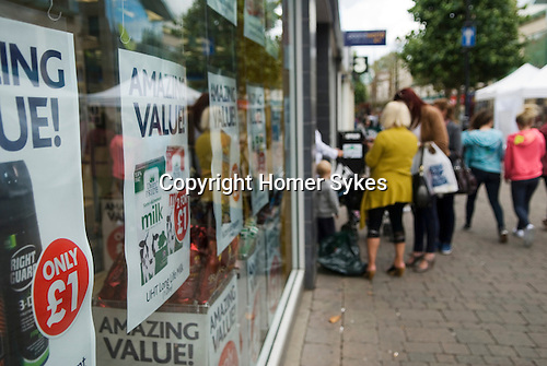 High street Pound World shop Staines Middlesex where everything is Amazing Value and cost just one pound sterling UK. 2012, 2010s,