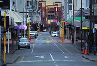 Dixon St at 8.30am during Level 4 lockdown for the COVID-19 pandemic in Wellington, New Zealand on Monday, 23 August 2021.